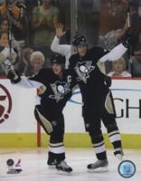 Framed Sidney Crosby &  Evgeni Malkin 2007-08 Action