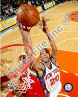 Framed Jared Jeffries 2007-08 Action
