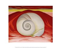 Framed Red Hills and White Shell, 1938