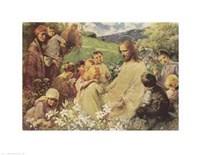 Framed Christ and the Little Children