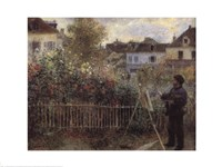 Framed Monet Painting in the Garden at Argenteuil, 1873