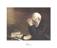 Framed Grace (Old Man Praying)