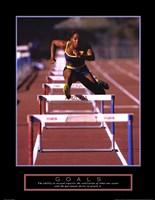 Framed Goals - Runner Jumping Hurdles