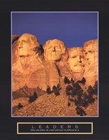 Framed Leaders - Mount Rushmore