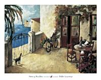 Framed Perro y Bicicleta