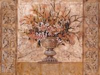 Framed Floral Tapestry (gold foil)