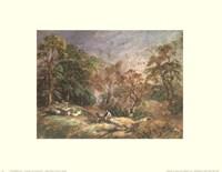 Framed Landscape With Resting Men