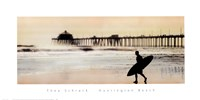 Framed Surfer at Huntington Beach