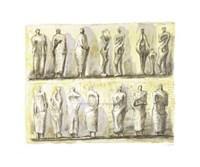 Framed Standing Figures (serigraph)