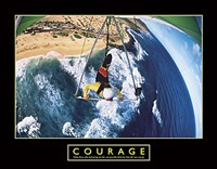 Framed Courage - Hang Glider