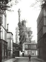 Framed Statue of Liberty in Paris, 1886