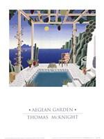 Framed Aegean Garden