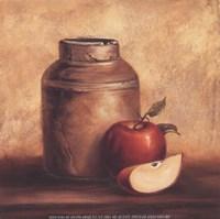 Framed Crock With Apples