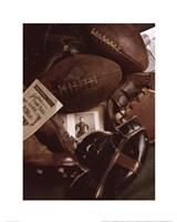 Framed Vintage Football (Sepia)