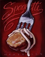 Framed Spaghetti Meatballs