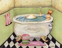 Framed Bathing Lady II