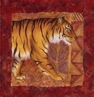 Framed Tiger Safari