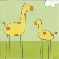Framed Stick-Leg Giraffe I