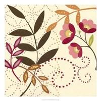 Framed Berry Blossom I