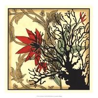 Framed Coral Tapestry I