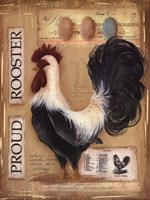Framed Proud Rooster
