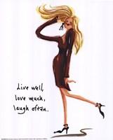Framed Wild Women: Live Well...