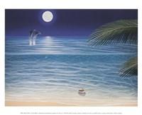 Framed Moonlit Palms