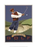 Framed Vintage Golf - Bunker