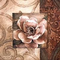 Framed Linen Roses II