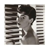Framed Audrey Hepburn – Blinds