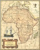 Framed Africa Map