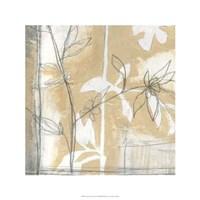 Framed Neutral Garden Abstract IV