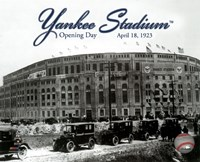 Framed Yankee Stadium 1923 Opening Day With Overlay