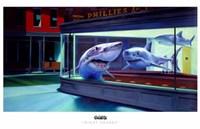 Framed Night Sharks