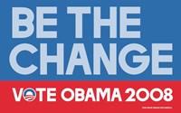 Framed Barack Obama - (Be The Change) Campaign Poster