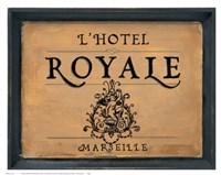 Framed L'Hotel Royale
