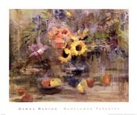 Framed Sunflower Tapestry