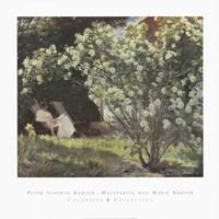 Framed Peter Severin Kroyer - Havepartie Med Marie Kryer
