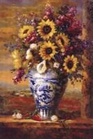 Framed Tuscan Sunflowers