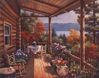Framed Log Cabin Covered Porch