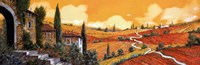 Framed Terra Di Siena