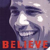Framed Barack Obama:  Believe