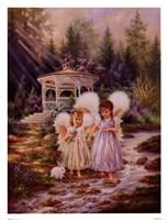Framed Angel Sisters