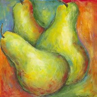 Framed Abstract Fruits I