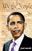 Framed Barack Obama - (We the People) Campaign Poster
