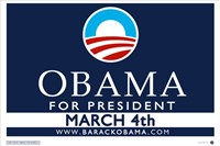 Framed Barack Obama - (March 4) Campaign Poster
