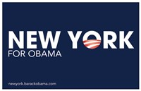 Framed Barack Obama - (New York for Obama) Campaign Poster
