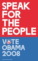Framed Barack Obama - (Speak for People-red) Campaign Poster