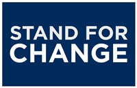 Framed Barack Obama - (Stand for Change) Campaign Poster