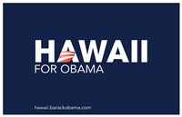 Framed Barack Obama - (Hawaii for Obama) Campaign Poster
